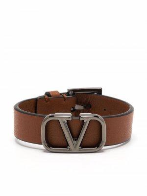 VLogo Signature buckle bracelet Valentino Garavani. Цвет: коричневый