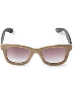 Солнцезащитные очки в бархатной оправе Italia Independent. Цвет: нейтральные цвета