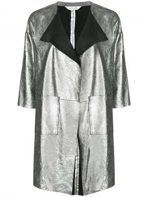 Куртка с панелями металлическим отблеском Giorgio Brato. Цвет: металлик