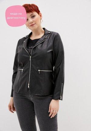 Куртка кожаная Sophia. Цвет: черный