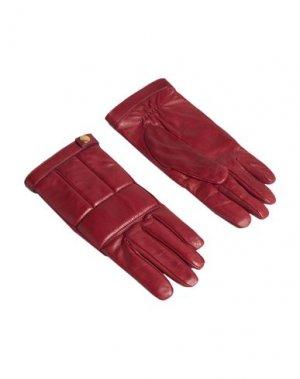 Перчатки DUNHILL. Цвет: красно-коричневый