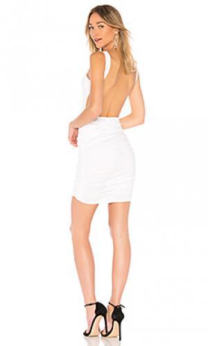 Облегающее платье с открытой спиной dani by the way.. Цвет: белый