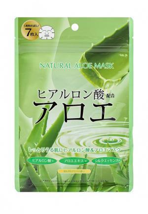 Набор масок для лица Japan Gals натуральных с экстрактом алоэ, 7 шт