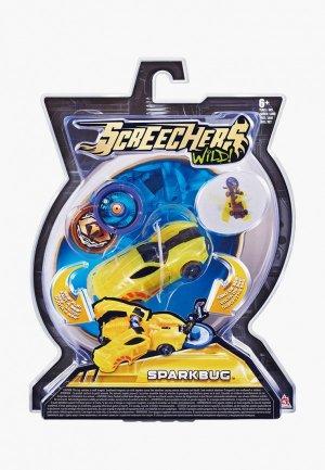 Игрушка Росмэн Дикие Скричеры. Машинка-трансформер Спаркбаг л1 ТМ Screechers Wild. Цвет: желтый
