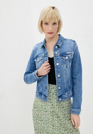 Куртка джинсовая Tommy Hilfiger. Цвет: синий