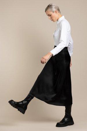 Юбка-макси из вискозы VASSA&Co. Цвет: черный