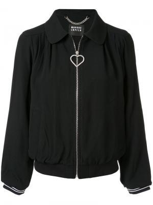 Куртка-бомбер Daisy с декором Markus Lupfer. Цвет: черный