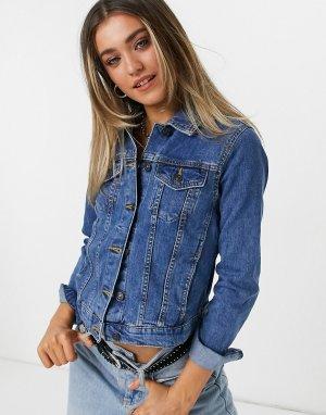 Светло-синяя джинсовая куртка -Голубой Pimkie
