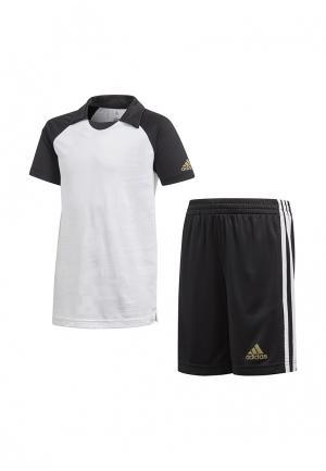 Костюм спортивный adidas. Цвет: белый