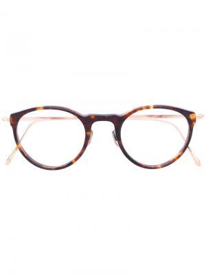 Очки в круглой оправе Eyevan7285. Цвет: коричневый