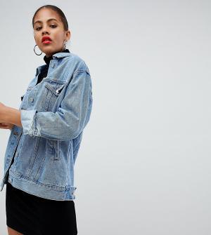 Синяя джинсовая oversize-куртка -Голубой Missguided Tall