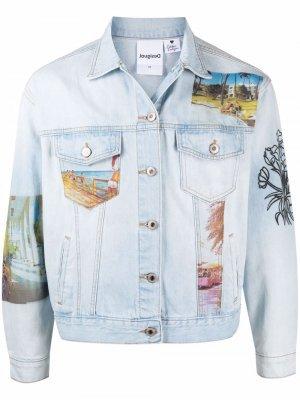 Джинсовая куртка South Beach из коллаборации с Desigual Esteban Cortazar. Цвет: синий