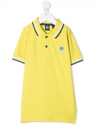 Рубашка поло с вышитым логотипом North Sails Kids. Цвет: желтый