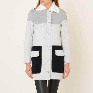 Пальто средней длины LOU MARGAUX LONNBERG. Цвет: gris