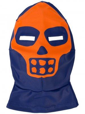 Балаклава Skeleton Mask Walter Van Beirendonck. Цвет: синий