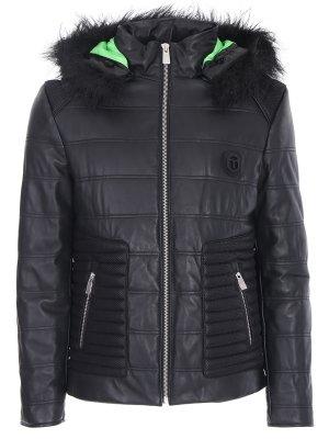Куртка стеганая из кожи FRANKIE MORELLO