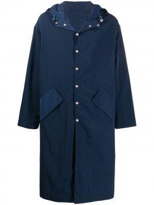Дождевик с вышивкой Kenzo. Цвет: синий