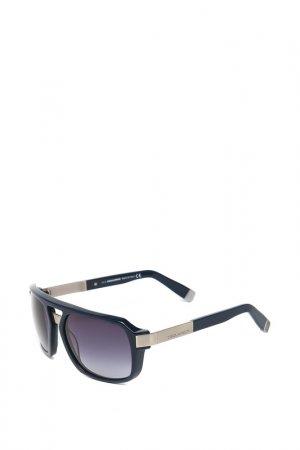 Очки солнцезащитные с линзами DSQUARED. Цвет: 90w синий, серебристый