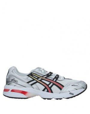 Кеды и кроссовки ASICS. Цвет: серебристый