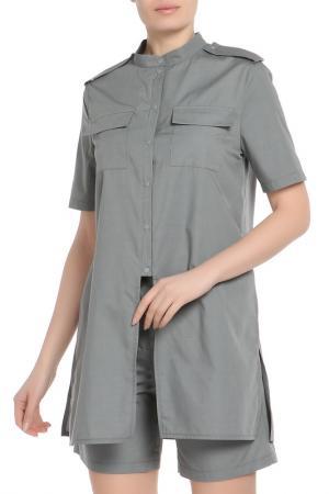 Костюм: туника, шорты Adzhedo. Цвет: серый