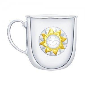Кружка большая «Солнышко» с позолотой SOKOLOV