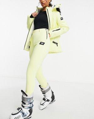 Лыжные брюки скинни со штрипками -Желтый ASOS 4505