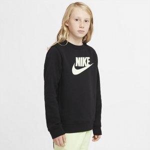 Свитшот для мальчиков школьного возраста Sportswear Club Fleece - Черный Nike