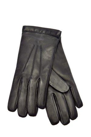 Перчатки из кожи наппа и кашемировой пряжи MORESCHI. Цвет: черный