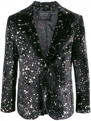 Бархатный пиджак из коллаборации с Led Zeppelin John Varvatos. Цвет: черный