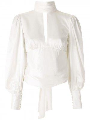Блузка с открытой спиной Eva. Цвет: белый