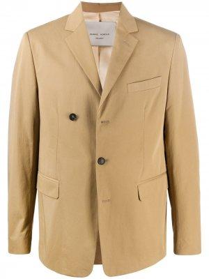 Двубортный пиджак строгого кроя Frankie Morello. Цвет: нейтральные цвета