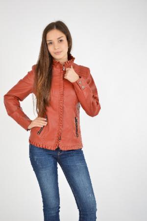 Куртка RILORACE. Цвет: красно-коричневый