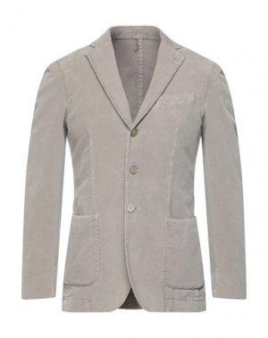 Пиджак SANTANIELLO. Цвет: серый
