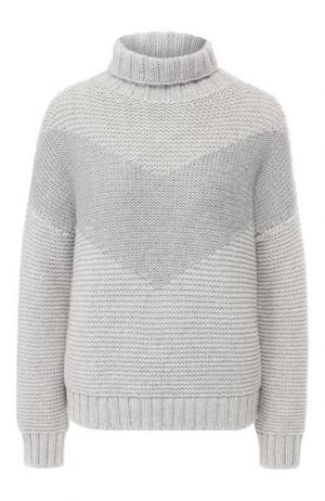Кашемировый пуловер Loro Piana. Цвет: серый