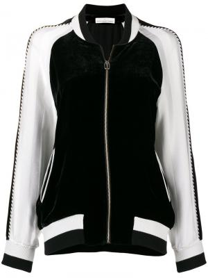 Двухцветная куртка-бомбер Golden Goose Deluxe Brand. Цвет: черный