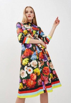 Платье Alice + Olivia. Цвет: разноцветный