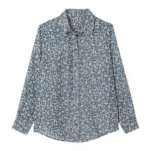 Блузка La Redoute. Цвет: синий