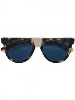 Солнцезащитные очки в круглой оправе Calvin Klein 205W39nyc. Цвет: коричневый