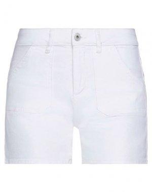 Джинсовые шорты ICHI. Цвет: белый