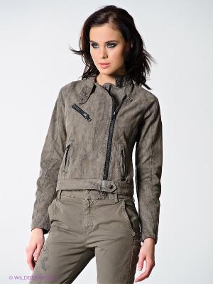 Куртка RARE. Цвет: серо-коричневый