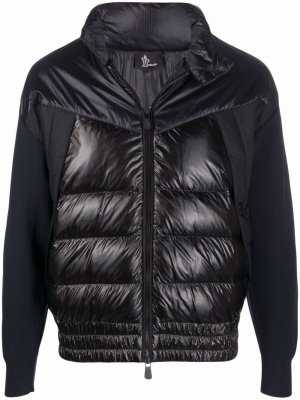 Panelled high-neck puffer jacket Moncler. Цвет: синий