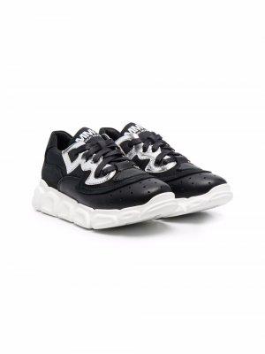Logo-print lace-up sneakers MM6 KIDS. Цвет: черный