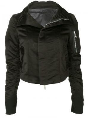 Байкерская куртка-бомбер Unravel Project. Цвет: черный