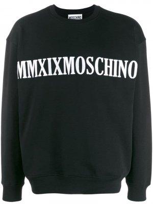 Толстовка с вышитым логотипом Moschino