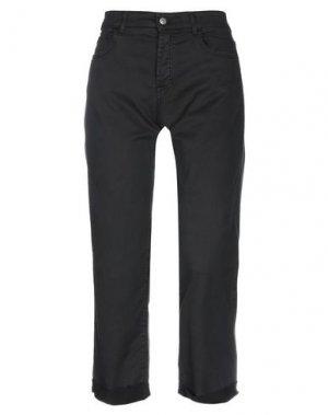 Джинсовые брюки-капри ROŸ ROGER'S. Цвет: черный