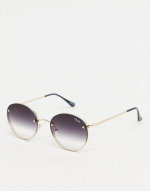 Черные солнцезащитные очки без оправы Farrah-Черный Quay Australia