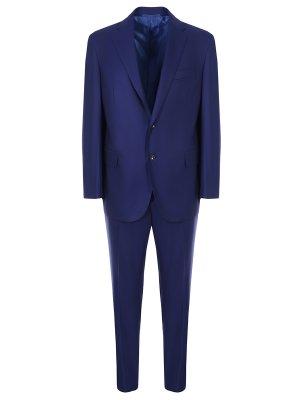 Классический шерстяной костюм Stile Latino. Цвет: синий