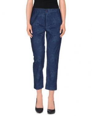 Повседневные брюки TRUE TRADITION. Цвет: синий