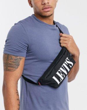 Черная сумка-кошелек на пояс с логотипом Levis-Черный Levi's