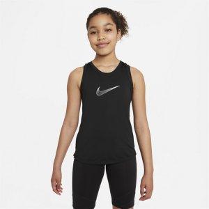 Майка для тренинга девочек школьного возраста Dri-FIT One - Черный Nike